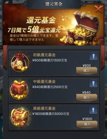 三国覇王戦記 課金